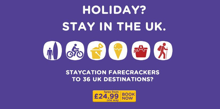 Farecracker is back! Late summer staycations from £24.99 ow. Book by 23.10. T&C's apply