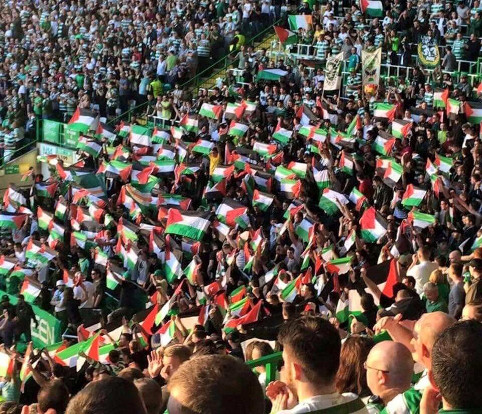 Celtic fans were warned not to raise Palestine flag during match - see what happens when you try and oppress people https://t.co/X5ffQeVzwt