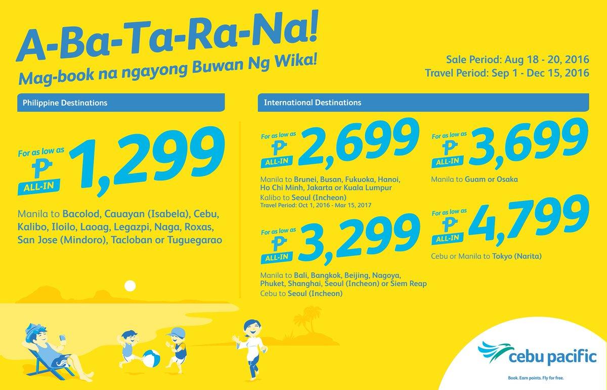 CEBSeatSale Tara't na't gumala! Mag book na ngayong Buwan ng Wika!