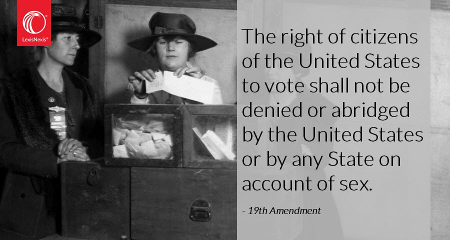 19th amendment, guaranteeing women the right to vote, was ratified today in 1920. https://t.co/1Zn3sIfoKF