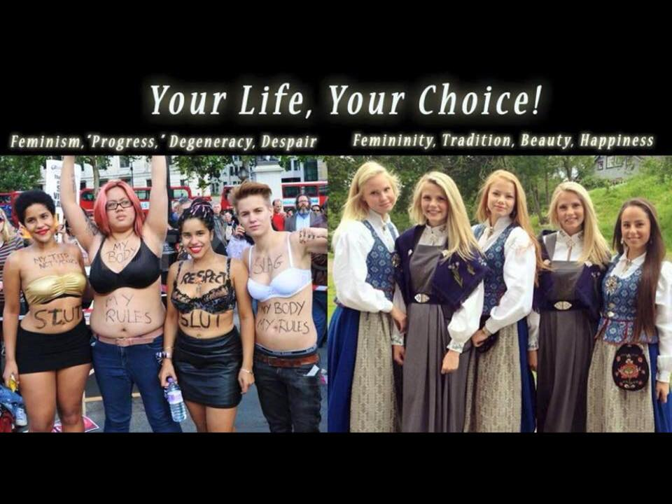 Right wing girls