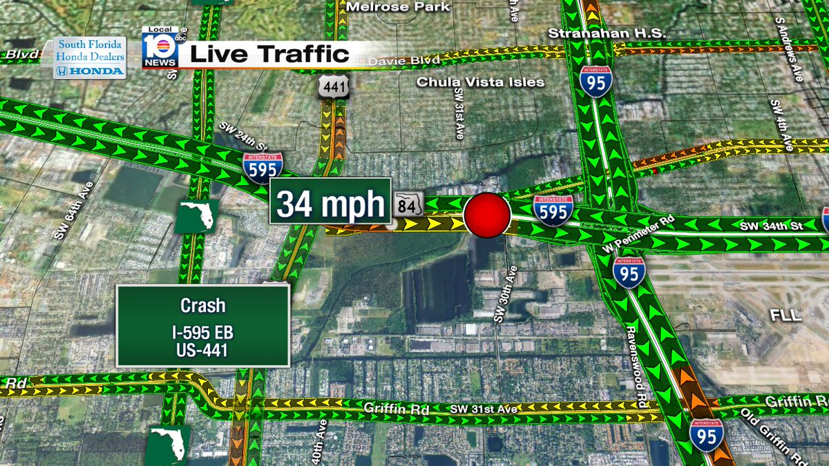 Accident on i-595 eb just east of us-441 #traffic - scoopnest.com