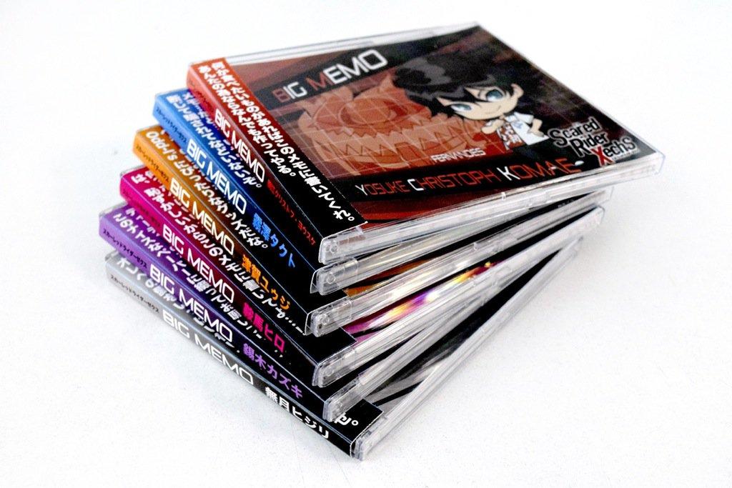 【スカーレットライダーゼクス】CDケース入りビッグメモ 秋頃発売予定!ライダー達がCDデビュー!?※画像は監修中のもので
