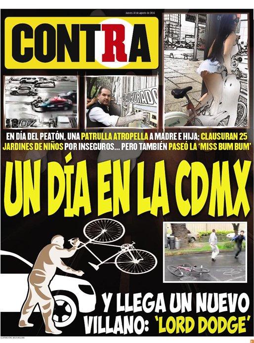 RT @record_mexico: ¡Buen día! #hoyenLaContra En día del peatón, patrulla atropella a 2 personas, nace #LordDodge y Miss Bumbum se paseó htt…