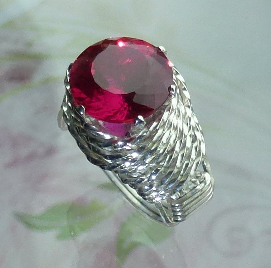 Ruby Ring Wire Wrapped Jewelry Handmade in Silver FREE SHIPPING https://t.co/TkuFOYnRP0 #ecochic #boho https://t.co/ynqalUblC7