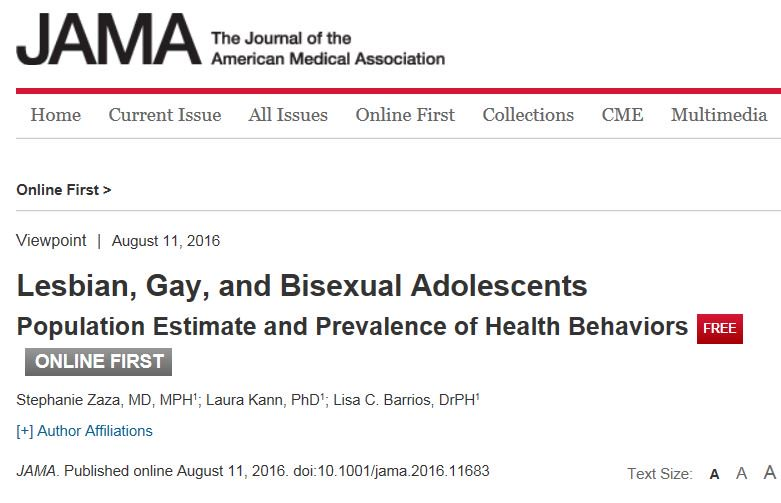 RT @CDCMMWR: .@JAMA_current explores @CDMMWR's surveillance of lesbian, gay, & bisexual youth.