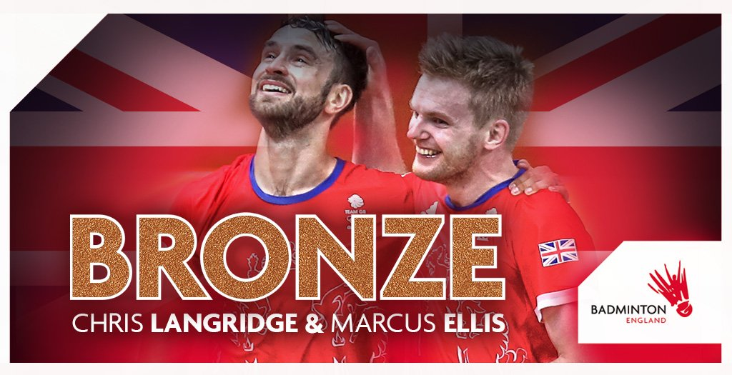 YES YES YES! History made for #GBR #badminton! It's Olympic #Bronze for @C_Langridge @ellis_marcus111 in #Rio2016. https://t.co/CwwE3gJ1xz