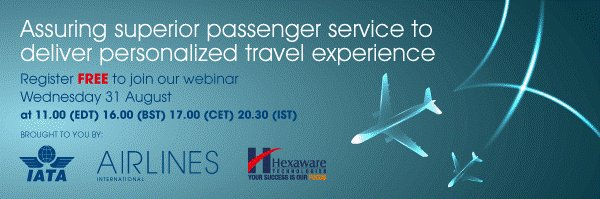 46% of airlines see improved paxex as a main benefit of mobile tech! Learn more, register: