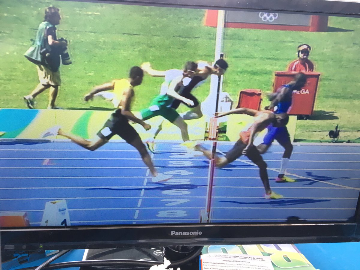 .@TomBarr247 could not have done any more. 47.97 a fantastic NR past Tuesday's 48.39. #Rio2016 #IRL https://t.co/sDW9YHnJtk