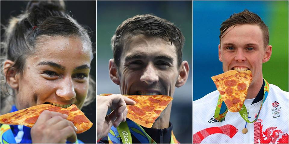 #pizza - it's the official celebratory food of #Rio2016 https://t.co/y4LZwztK2H