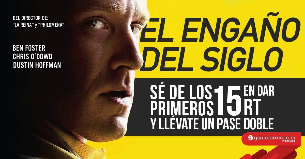 Sé de los primeros 15 en dar RT y obtén pases dobles para ver #ElEngañoDelSiglo T&C: https://t.co/vlr90LLc2i https://t.co/1tgCtDg8uX
