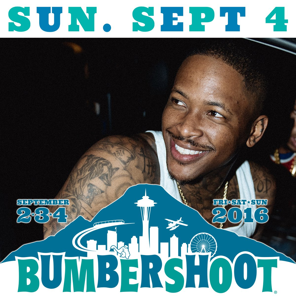 we are excited to announce @YG has been added to the #Bumbershoot2016 lineup! https://t.co/8ugcSijzCb