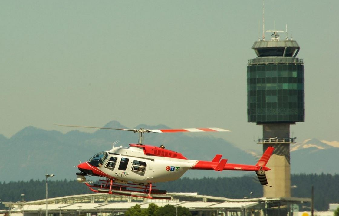 Aircraft of the Month is the awesome Chopper9, a frequent flyer at YVR. Pic @trev_batstone: