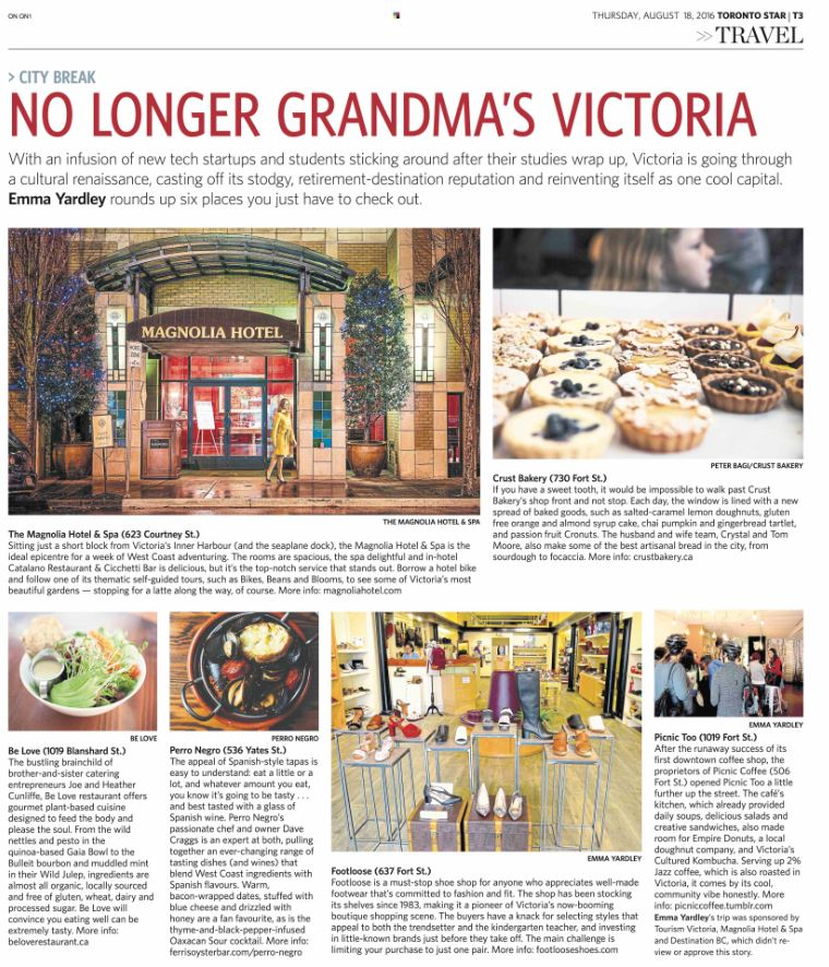 No longer Grandma's Victoria! Check out @byemmayardley's beautiful piece in today's @TorontoStar Travel section https://t.co/UrrBqMFbL6