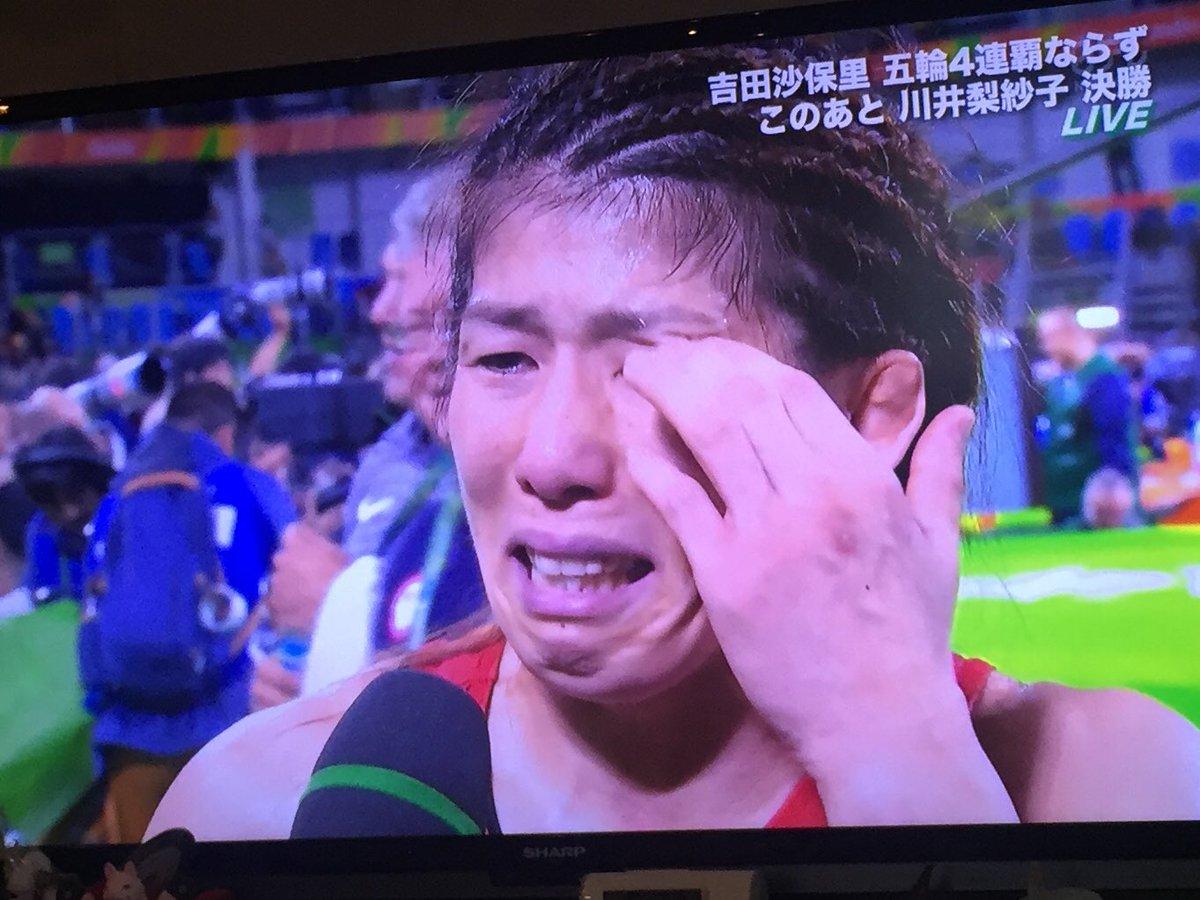 全く申し訳なく無い。これは本当に。  全く全く全く申し訳なく無いよ、吉田沙保里さん。  あなたが引っ張って…いやさ、スーパースターでいるから後輩達が伸びたのです。スーパースターです!! https://t.co/ASmPBYjgQK