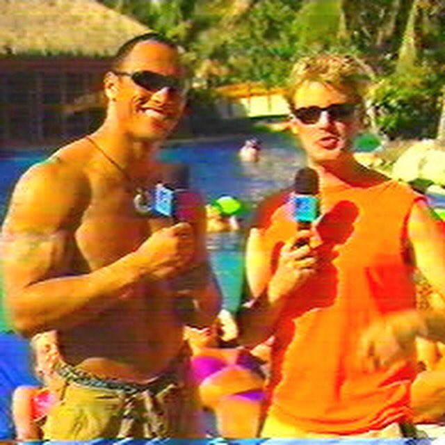 """""""Can you smell what @therock is cookin?"""" the nicest and most charismatic person I have ever met! #TBT #MTV #WWE https://t.co/Au3FwViSEn"""