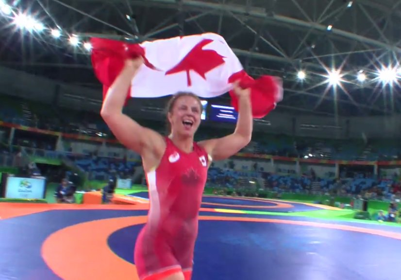 AWESOME! @ericawiebe takes home GOLD - Congratulations from everyone here at @UCalgary #RIO2016 #wearealldinos https://t.co/9JEtWHkVEN
