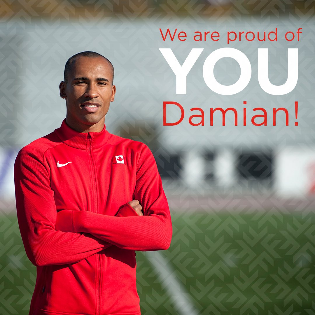 Congratulations @DamianWarner on your bronze medal in the decathlon! Fanshawe is so proud of you! #Rio2016