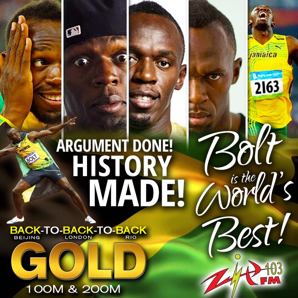 The greatest of all time!!! Usain Bolt!!! #wilikklebutwitallawah #ziptocratseverywhere #JamaicanRadio @usainbolt https://t.co/jJv87mFnzs