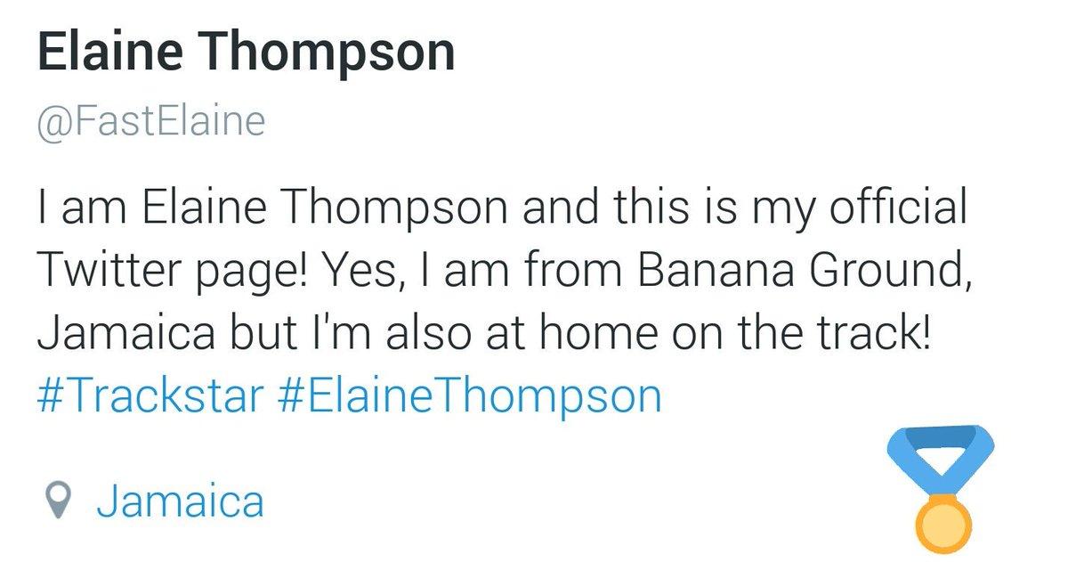 Follow our Brand Ambassador Elaine Thompson on Twitter.  Her official page: @FastElaine  #ElaineThompson https://t.co/LYjeDTsJCv
