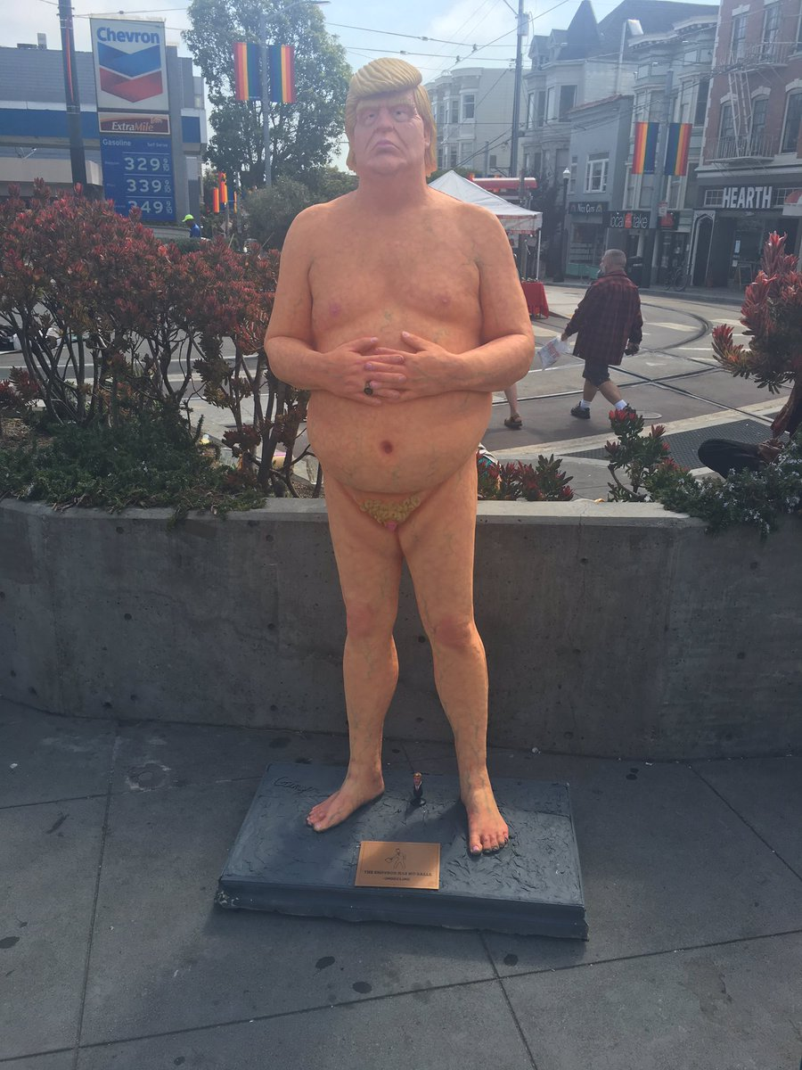Naked Trump to be removed tonight. I'm working to save him so SF can be reminded of his ridiculousness thru election https://t.co/laneK5Eyad