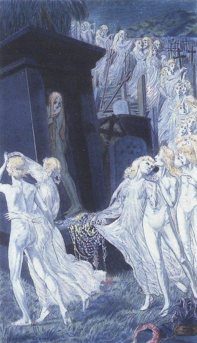 カルロス・シュヴァーベ【悪の華】1900年#絵画