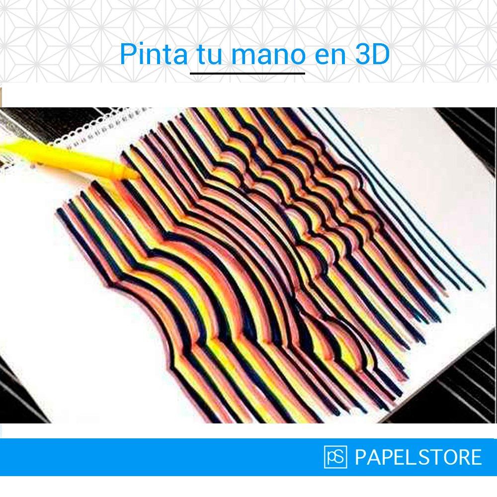 Cómo dibujar una mano en 3D. Ilusión óptica