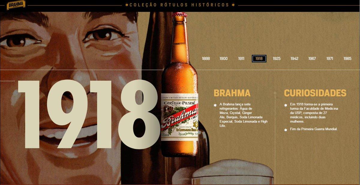 Brahma decora garrafas com rótulos históricos  https://t.co/IZZAtt1fpp https://t.co/s9VZD2RdM4