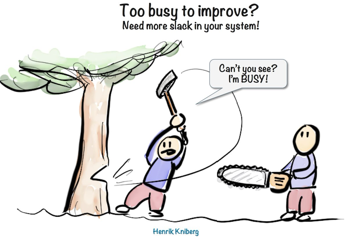 Too busy to improve? Need more slack in your system! https://t.co/YGDC8KuioA