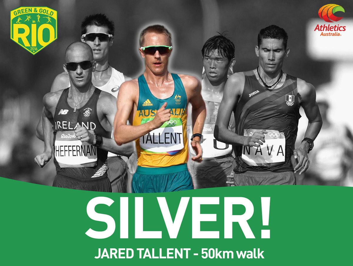 Tallent becomes #AUS most successful male #athletics @AUSOlympicTeam with four medals #JaredsGotTallent #OneTeam https://t.co/olQnySn68X