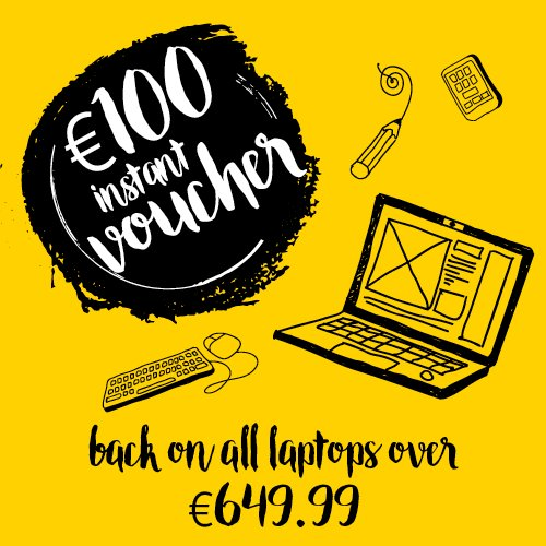 €100 INSTANT DID voucher when you spend €649.99 on any laptop with DID! https://t.co/pHZgoOoZ4Q #ItAllStartsHere https://t.co/gmLsfndC5i