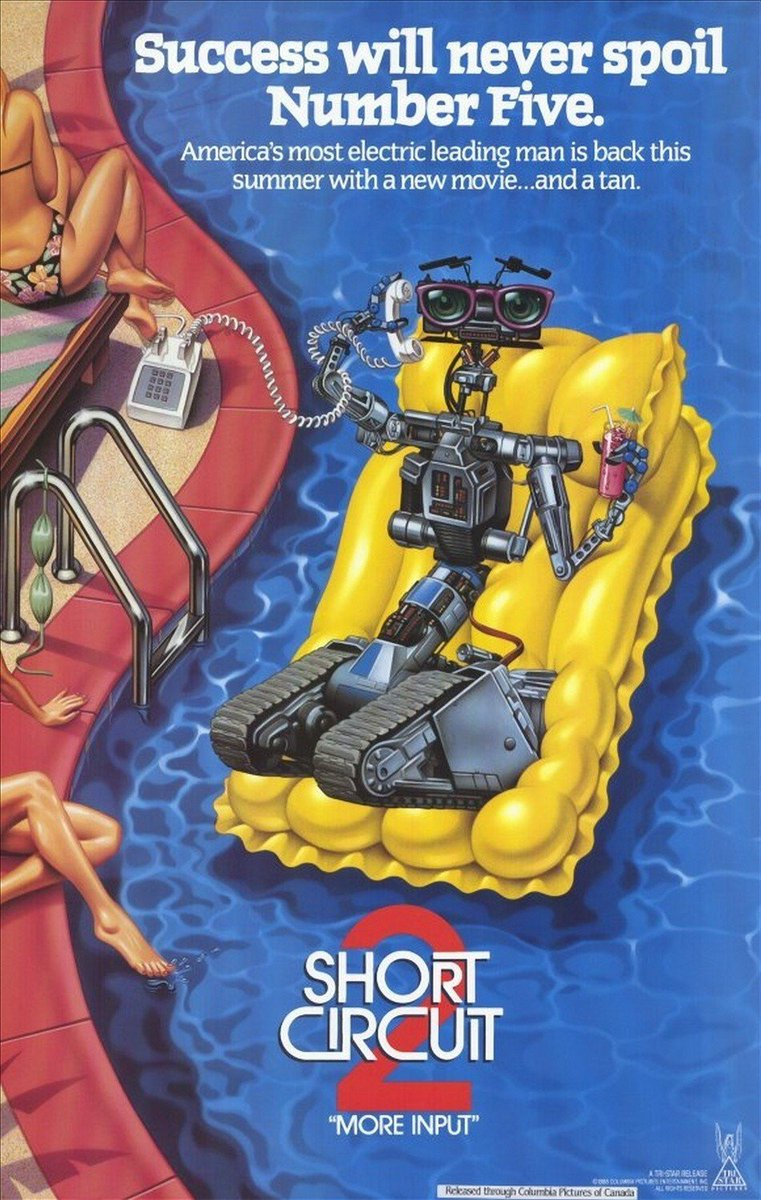 Coming Up At 1pm Johnny 5 The Sentient Robot Returns For 1988 Sci Five Short Circuit 2 Fi