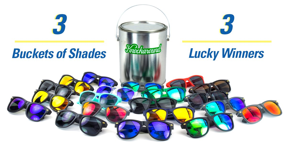 Feelin' lucky? We're feelin' generous! Click https://t.co/Rloe1VAXl7 for a chance to win a bucket of shades! https://t.co/3GMjMvjHF2