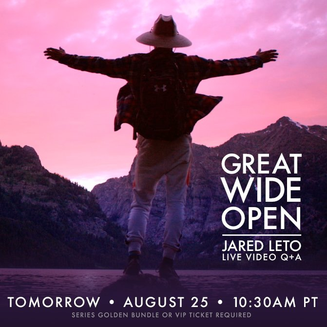 Anyone joining me LIVE tomorrow? Get all the goodies: https://t.co/XHXVcGMBbn #GreatWideOpen https://t.co/c5XNUviz3S
