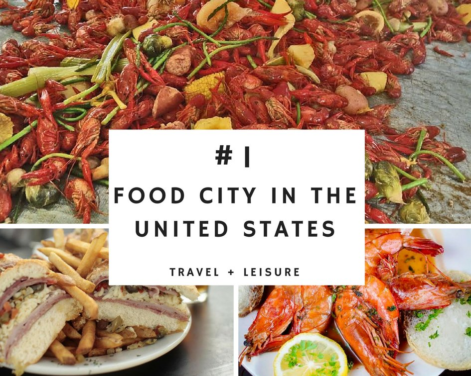 """New Orleans was named by @TravelLeisure as the """"#1 Food City in the United States"""" https://t.co/w2frYk6BII https://t.co/87PFUKLZz5"""