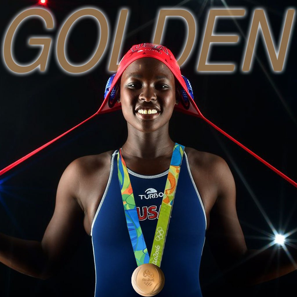 Ashleigh Johnson wins gold with #USA in women's water polo! https://t.co/rb5YlwdNX9