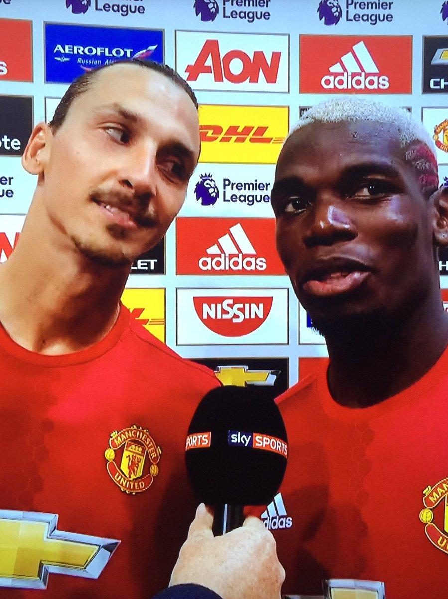 That look Zlatan gave Pogba on @SkySports
