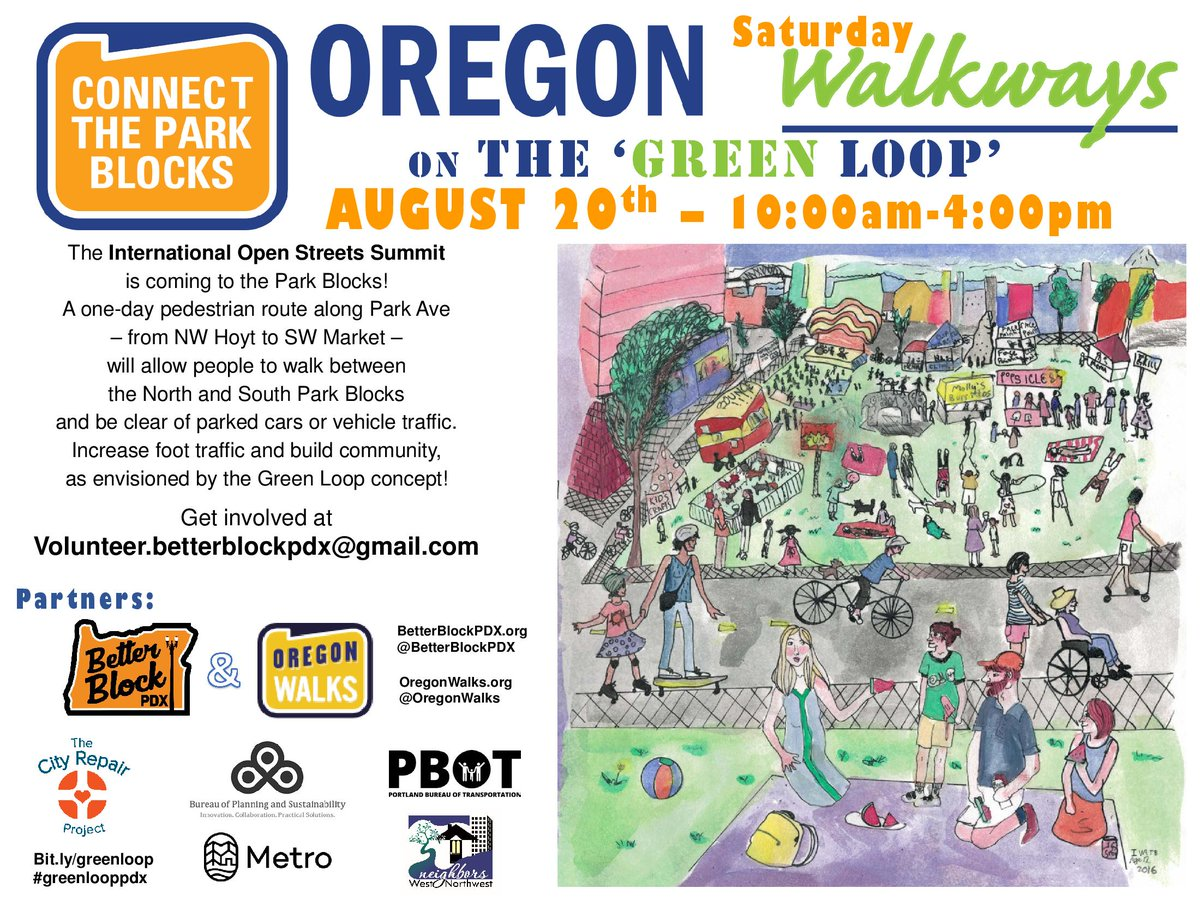 We're a part of tomorrow's #greenlooppdx w/ @BetterBlockPDX. Games, music & check out new Ankeny Square food carts! https://t.co/qeKE8uxNMM
