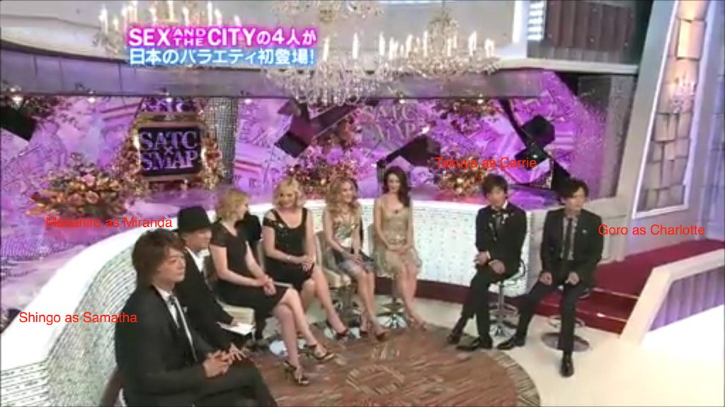 In on honor of #SMAP解散 breaking up,a pic of #SATC on their show