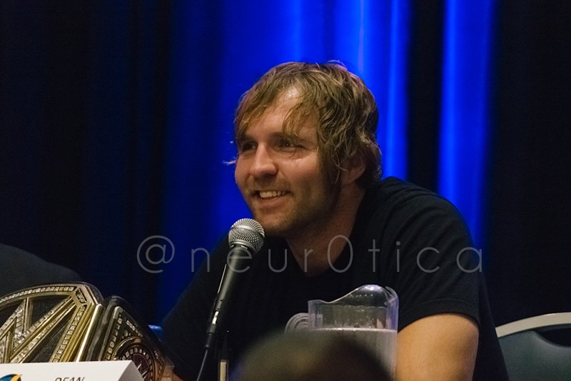 My favorite photo I took of Dean Ambrose at @WizardWorld Comic Con today. =D @deanambrosenet https://t.co/Xg0cRAC1Xd
