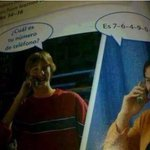 """Mientras tanto en USA, en un libro de """"Español"""", un joven llama a alguien para preguntarle su número de teléfono. https://t.co/dzeJYJ1Sta"""