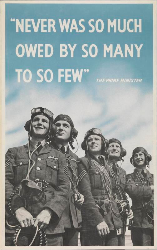 "#OnThisDay 1940: In a speech, Churchill says ""Never was so much owed by so many to so few"" #BattleOfBritain #WW2 https://t.co/2z0UrnAvzS"