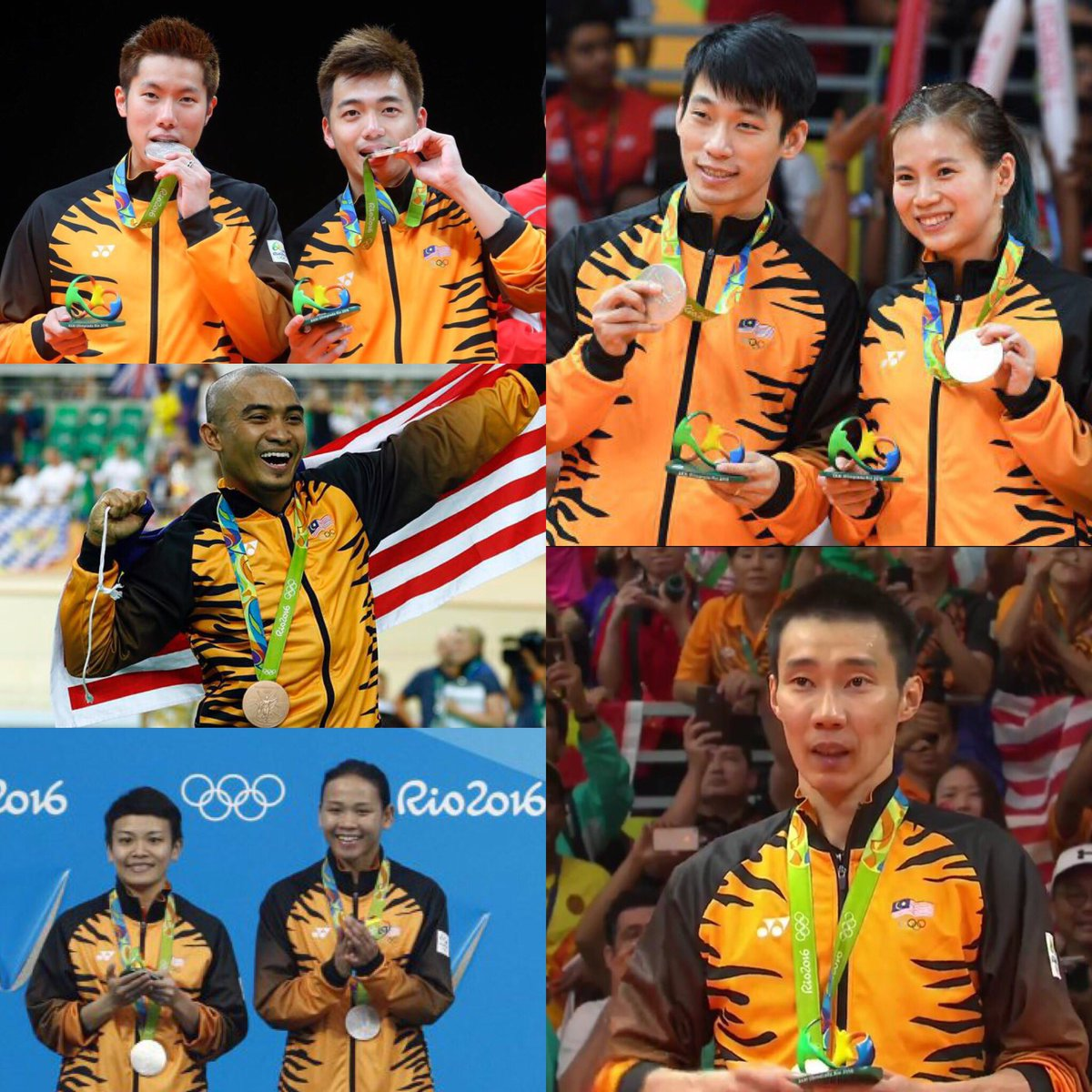 Tak kira pingat apa sekali pon. TERIMA KASIH kerana menyatukan kita semua! #Olympics #MAS #WeLoveyouTeamMalaysia https://t.co/JTHQmRfP6i