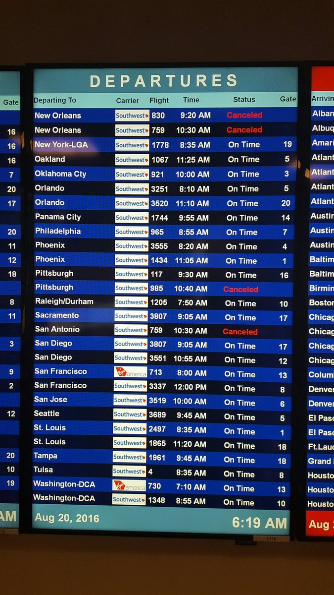 Departures this morning have cancellations. Check with your airlines for details and to re-book. #DALweather https://t.co/Ed01mgczYU