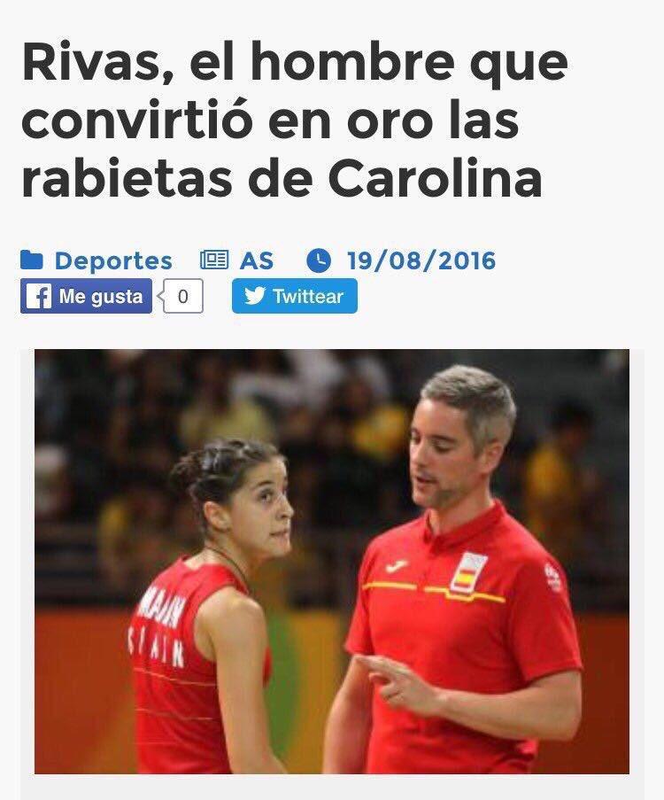 Carolina, la mujer que convirtió en entrenador de oro a Rivas. https://t.co/qUPharXcjY