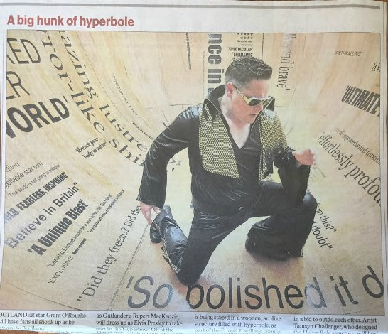 #Outlander's @GrantORourke goes full Elvis in @heraldscotland ahead of tomorrow's big event in the Hyperbowl https://t.co/2h9Tf4l20n