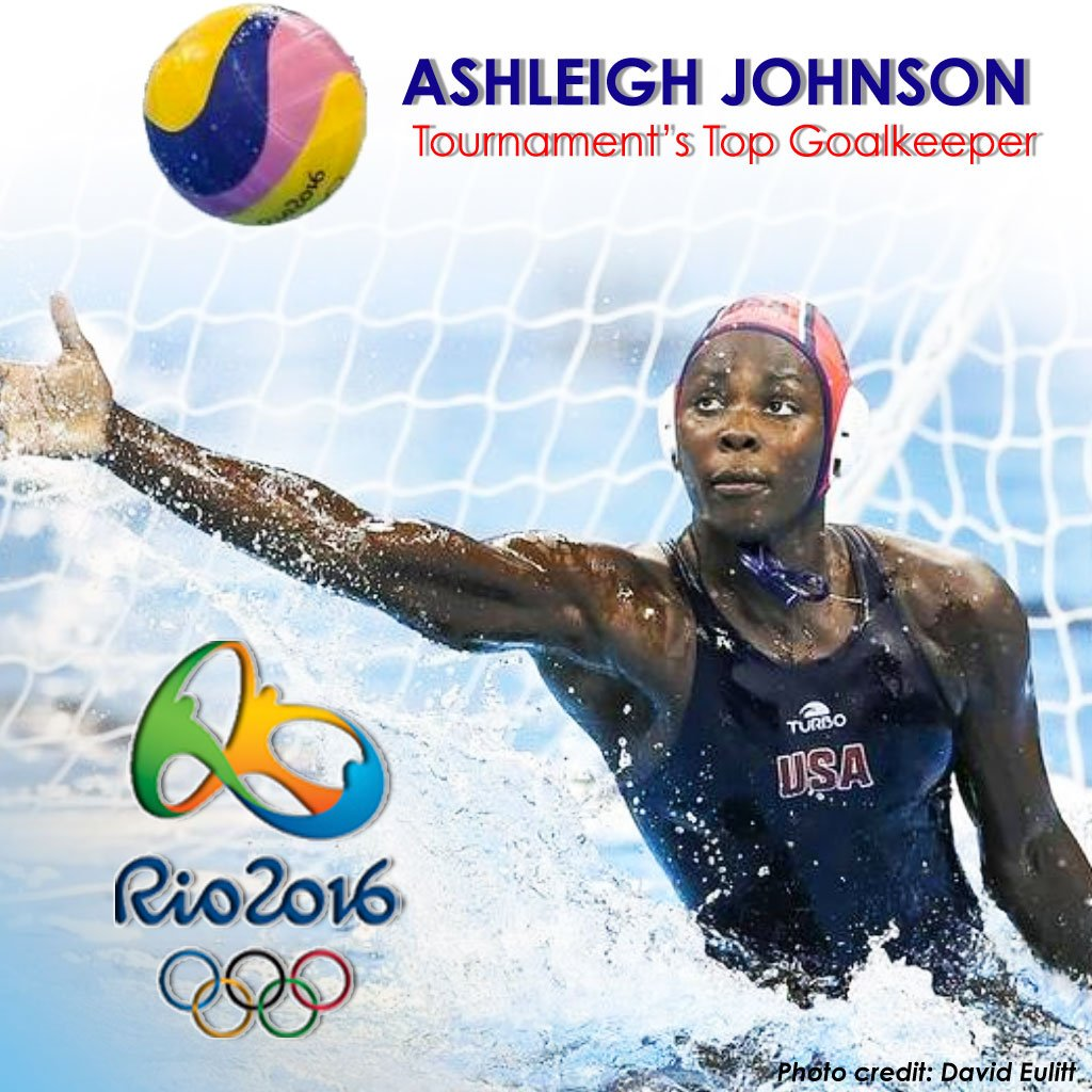 Congratulations Ashleigh Johnson on being named the 2016 #OlympicGames top goalkeeper #GoldMedal #Rio2016 #USA https://t.co/SpTMYNjtcb