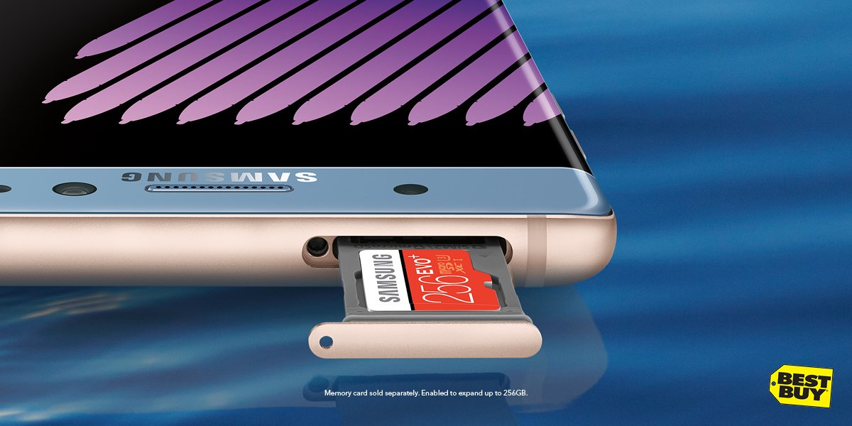 More pics, more music, more everything! #GalaxyNote7 has expanded memory! Now @BestBuy #ad https://t.co/Inh9l6hTlP https://t.co/55zpAxgjN3