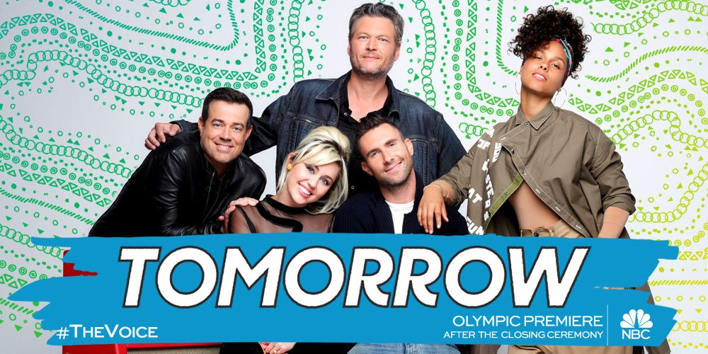 Don't miss @NBCTheVoice Olympic Premiere TOMORROW after the Olympics Closing Ceremony. #TheVoice - Team BS https://t.co/JADw6jVkTZ