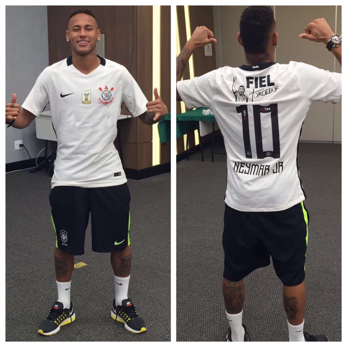 O #MantoAlvinegro é mágico. @neymarjr vestiu a camisa do #Timão antes de comandar o #BRA no triunfo do #ouro! https://t.co/Phua1VYbmk